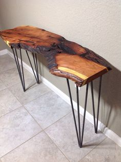 Your place to buy and sell all things handmade Mesquite Live Edge Console table. Your place to buy and sell all things handmade Mesquite Live Edge Console table Texas San Antonio Diy Sofa Table, Sofa Tables, Wood Table, Table Desk, Live Edge Console Table, Live Edge Table, Console Tables, Round Foyer Table, Wood Slab