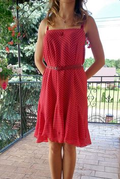 red dress...
