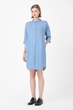 Denim-look shirt dress