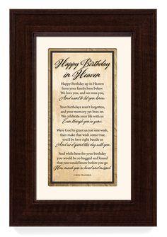 'Happy Birthday in Heaven' Framed Textual Art