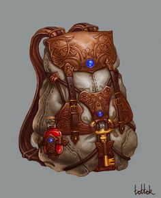Travel backpack, Natali Kalashnikova on ArtStation at https://www.artstation.com/artwork/V1QK5
