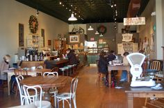 Lovely Bake Shop - perfect for a weekend pastry and coffee! Country Kitchen Restaurant, Menu Restaurant, Restaurant Design, Vintage Coffee Shops, Vintage Diner, Kountry Kitchen, Best Banana Pudding, Yogurt Shop, Cafe Bistro