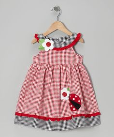 Take a look at this Red Ladybug A-Line Dress - Infant by Good Lad on #zulily today!