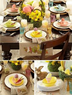 Easter table inspiration - a dozen + table scapes on this site...