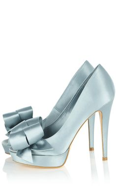 Karen Millen Satin peep with bow