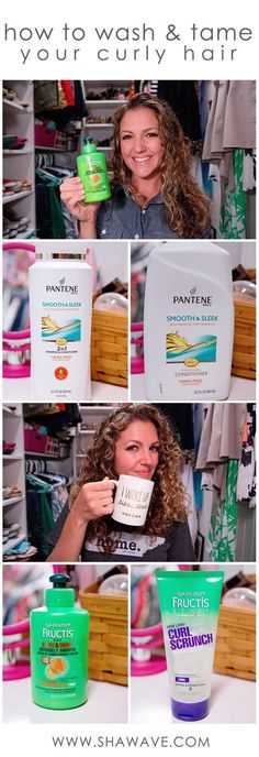 How to wash and tame your naturally curly hair // 4 drugstore products to use to maintain your natural curls and frizz // Pantene shampoo & conditioner // Garnier leave-in conditioner & curl gel // #shawavenue // @shawavenue #HairProducts