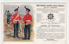 ROYAL SCOTS (LOTHIAN REGIMENT): Military postcard (C12509)