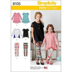 Sewing Patterns For Kids, Simplicity Sewing Patterns, Sewing For Kids, Clothing Patterns, Dress Patterns, Sewing Ideas, Sewing Projects, New Look Patterns, Girls Tunics