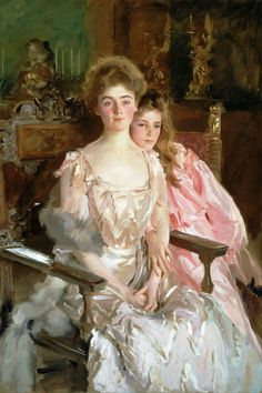 John Singer Sargent  Mrs Fiske Warren and Her Daughter Rachel  1903