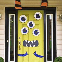 Cute And Creepy Monster Mash Halloween Door