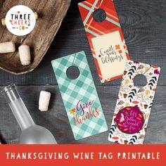 Printable Tags, Free Printables, Wine Tags, Diy Thanksgiving, Free Design, Cheer, Crafts, Awesome, Humor