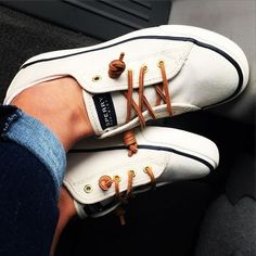 Women's Seacoast Canvas Sneaker - Sneakers | Sperry Top-Sider - I would tie the laces in a bow