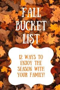 Build memories with your kids this fall by checking things off this fun to do list!