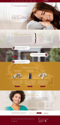 This website design has an interesting feel. Website Design Inspiration, Graphic Design Inspiration, Page Design, Layout Design, Dentist Website, Corporate Website Templates, Beauty Web, Affordable Dental, Creative Communications