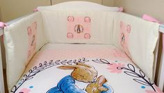 Peter rabbit baby bedding set pink and blue