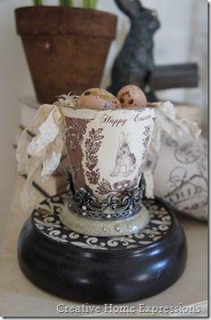 Easter peat pot