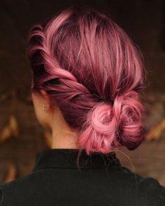 pink-hair-bun-beauty