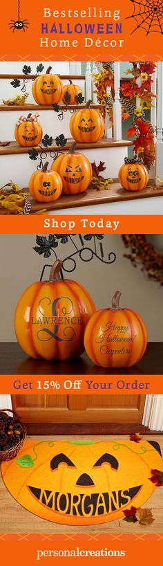 Conjure up the most fun house on the block with our collection of personalized Halloween home decor. Get 15% off your order today.