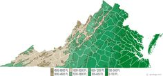 virginia state map - Google Search