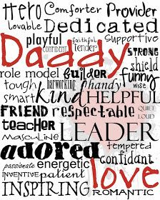 free printable daddy fathers day art subway art