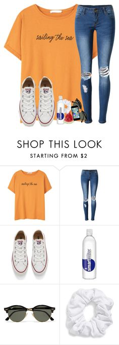 """""""qotd: what was your high and low today?"""" by madiweeksss ❤ liked on Polyvore featuring MANGO, WithChic, Converse, Ray-Ban and Natasha Couture"""