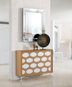 Recibidores modernos : Recibidor CALIPSO ROBLE de Dis-arte www.decoraciongimenez.com/recibidores