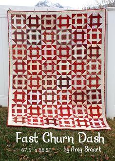 Fast Churn Dash quilt
