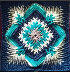 Elements Cal Square for Blankets, Pillows, Centrepieces [Free Crochet Pattern] #elementscal #crochet #freepattern