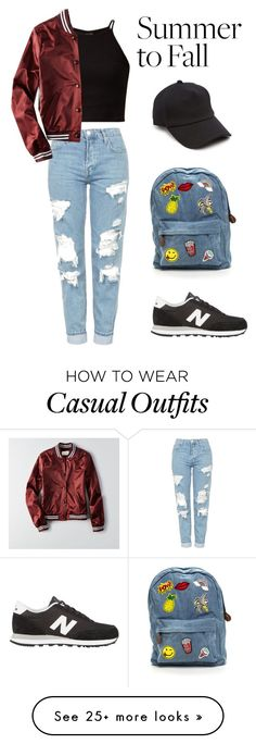 """""""Casual Fall Clothing"""" by emily-henninger on Polyvore featuring Topshop, American Eagle Outfitters, New Balance and rag & bone"""