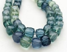 Fluorite Beads Aqua And Green Fluorite Faceted by gemsforjewels