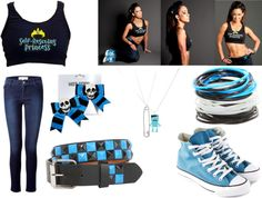 """""""AJ Lee 'Self-Rescuing Princess'"""" by wwegirl423 ❤ liked on Polyvore"""