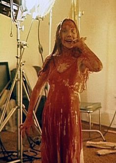 Sissy Spacek, on set, smoke break. Carrie (1976)
