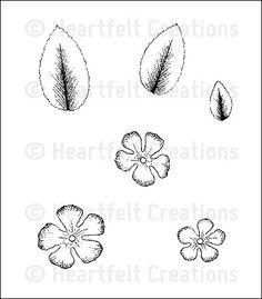 Click to Enlarge: Botanical Floral 2 Cling Stamp Set