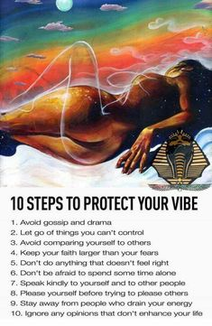 10 steps to protect your vibe Spiritual Wisdom, Spiritual Awakening, Spiritual Path, Knowledge And Wisdom, Comparing Yourself To Others, Mind Body Soul, Tantra, Positive Affirmations, Positive Mindset