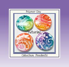 Tutorial  How to Create Polymer Clay Cabochon Pendants