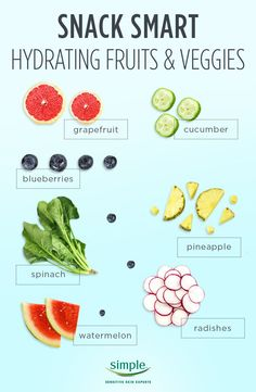 Make your next snack count and switch to one of these top hydrating fruits and veggies. Ditch the carrot sticks for cucumber slices and get glowing, hydrated skin.