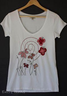 Bordado Popular, Paint Shirts, Vegan Clothing, Basic Style, Fabric Painting, Baby Sewing, Needle And Thread, Sewing Clothes, Clothing Patterns