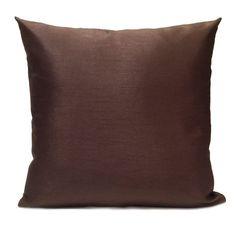 Solid Chocolate color Silk Blend Pillow Cover    Visit https://www.etsy.com/shop/SHPillows?ref=l2-shopheader-name to see the rest of our collection.  Thank you!!