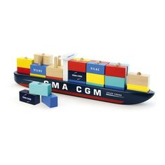 Vilac Wooden Container Ship