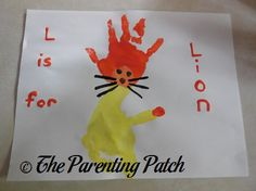 L Is for Lion Handprint and Footprint Craft | Parenting Patch