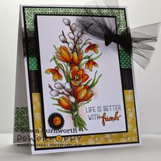 My Stamping Thyme: Winter Pick Me Up digital stamp by Power Poppy, card design by Dawn Burnworth.