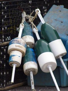 Cape Cod Lobster Buoys!  Photo by Renee Rutana