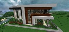 Modern house with style minecraft build 3