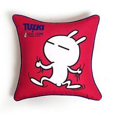 LOVO Tuzki Classic Emoticon Series Scrapping The Wall Cotton Throw Pillow Decor Cushion Decorative Euro Sham Square 20 * 20 inches LOVO http://www.amazon.com/dp/B00S7ZGMZM/ref=cm_sw_r_pi_dp_qNQzvb1VSAN89