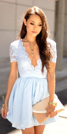 blue lace dress new summer fashion for this season