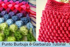 Patrones Crochet: Punto Burbuja o Garbanzo Crochet 2 Tutoriales