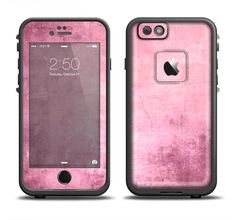 The Pink Grungy Surface Texture Apple iPhone 6/6s Plus LifeProof Fre Case Skin Set from DesignSkinz