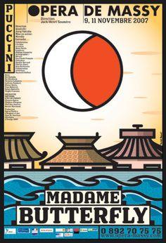 Michel Bouvet   Poster   Opera de Massy   Madame Butterfly