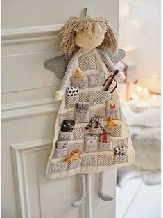25 Unique Fabric Crafts To Sell Gift Ideas : Show You Creativity Now. hand made - Diy and crafts interests Christmas Sewing, Christmas Crafts, Christmas Ornaments, Christmas Decorations, Crafts To Sell, Diy And Crafts, Advent Calenders, Angel Crafts, Fabric Toys