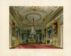 Antique prints from Pyne, Pyne Royal Residences 1819 Historical Romance, Historical Fiction, Carlton House, Henry Holland, Palace Interior, Pall Mall, Royal Residence, Kingdom Of Great Britain, Windsor Castle